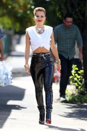 Rita Ora in Skin Tight Leather Pants - Photoshoot in Sydney 03/26/2021