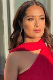 Salma Hayek – Dressed for the Golden Globes 2021