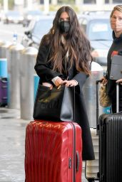 Sara Sampaio in Travel Outfit - LAX Airport in LA 03/18/2021
