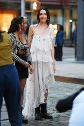 "Savannah Lee Smith and Zión Moreno - ""Gossip Girl"" Filming Set in Soho, New York 03/25/2021"