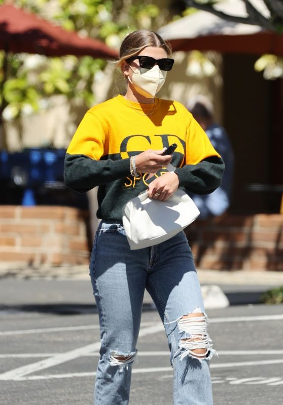 Sofia Richie in Ripped Jeans - Santa Barbara 03/29/2021