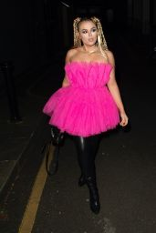 Tallia Storm in Pink and Thigh-High Boots in London 03/06/2021