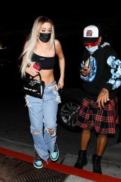 Tana Mongeau in Ripped Jeans and a Crop Tank 03/05/2021