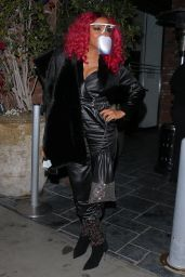 Taraji P. Henson in an All Black Ensemble and Bold Red Hair - Hollywood 03/14/2021