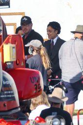 Tessa Thompson on Set During Filming in Sydney 03/05/2021