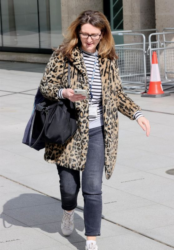Victoria Derbyshire in Leopard Print - London 03/22/2021