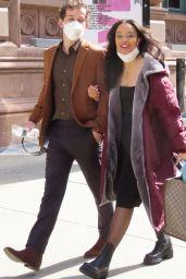 """Whitney Peak - """"Gossip Girl"""" Set in Soho, NYC 03/23/2021"""