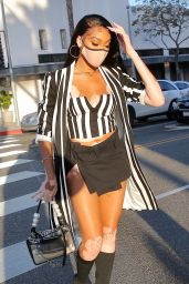 Winnie Harlow at Wally's in Beverly Hills 03/22/2021