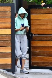 Alessandra Ambrosio - Arriving at Pilates in Beverly Hills 04/13/2021
