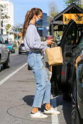 Alessandra Ambrosio at Kreation Organic in Brentwood 04/05/2021