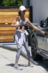 Alessandra Ambrosio in a Sports Bra and Leggings 04/27/2021
