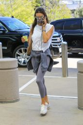 Alessandra Ambrosio in a Workout Ensemble - Beverly Hills 04/29/2021