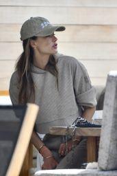 Alessandra Ambrosio in Comfy Outfit in Malibu 04/20/2021