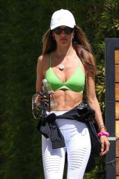 Alessandra Ambrosio in Workout Outfit - LA 04/08/2021