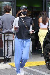 Alexandra Daddario in Comfy Clothes at Earth Bar in Los Angeles 04/12/2021