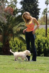 Alexis Ren at a Park in Los Angeles 04/27/2021