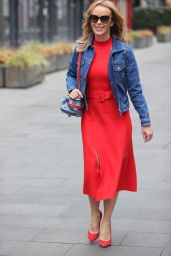 Amanda Holden in a Bold Red Dress 04/28/2021