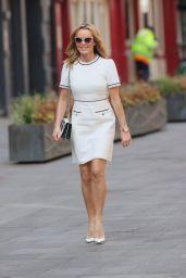 Amanda Holden in a White Mini Dress 04/21/2021