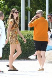 Amelia Gray Hamlin and Scott Disick - Chrome Hearts Store in Miami 04/07/2021