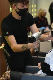 Amy Hart at Aldo Coppola Hair Salon in Kensington 04/22/2021