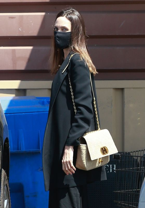 Angelina Jolie - Shopping For Flowers in Los Feliz 04/15/2021