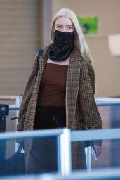 Anya Taylor-Joy - Arrives to JFK Airport in NY 04/24/2021