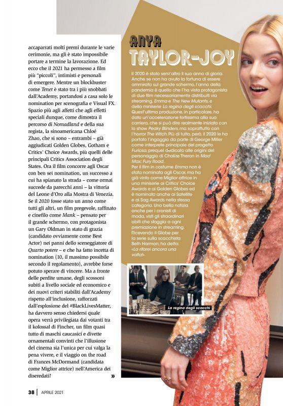 Anya Taylor-Joy - Best Movie April 2021 Issue