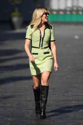 Ashley Roberts in a Green Mini Dress 04/19/2021