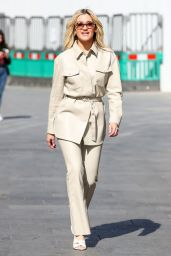 Ashley Roberts in a Sleek Beige Co-ord Ensemble in London 04/30/2021