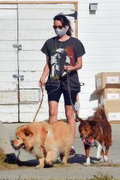 Aubrey Plaza - Takes Her Dogs for a Walk in Los Feliz 04/20/2021