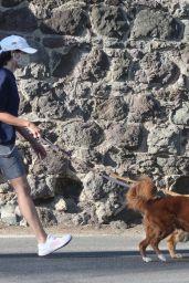 Aubrey Plaza Walking Her Dog 04/03/2021