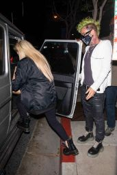 Avril Lavigne and Mod Sun - BOA Steakhouse in LA 04/22/2021