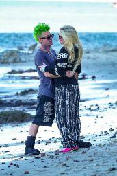 Avril Lavigne and Mod Sun on the Beach in Malibu 04/28/2021