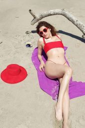 Blanca Blanco in a Red Bikini in Malibu 04/16/2021