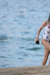 Brie Larson in a Butterfly Swimsuit on vacation in Hawaii 04/19/2021