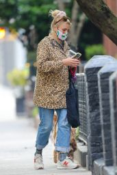 Busy Philipps in a Cheetah Print Jacket - New York 04/19/2021