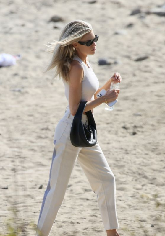 Charlotte McKinney at the Beach in LA 04/13/2021