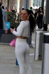 Chelsee Healey in Salford Quays Manchester 04/01/2021