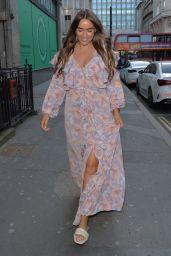 Chloe Ross - Leaving Aqua Restaurant in Mayfair 04/22/2021