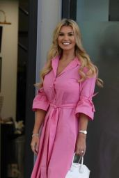 Christine McGuinness - Arrives at Stephs Packed Lunch TV Show in Leeds 04/19/2021