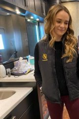Danielle Panabaker on The Flash set -10 | GotCeleb