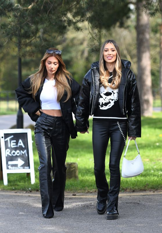 """Demi Sims and Francesca Farago - """"The Only Way is Essex"""" TV Show Filming in Essex 04/11/2021"""