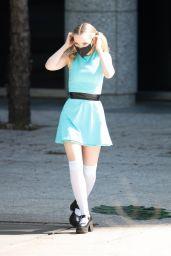 """Dove Cameron - """"Powerpuff Girls"""" Set in Atlanta 04/12/2021"""