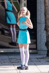 "Dove Cameron - ""Powerpuff Girls"" Set in Atlanta 04/12/2021"