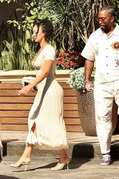 Draya Michele and Tyrod Taylor at the Four Seasons in West Hollywood 04/11/2021