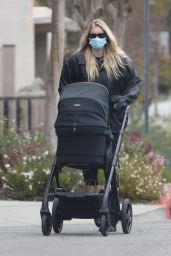 Elsa Hosk - Pushing Newborn Daughter Tuulikki in a Stroller 04/26/2021