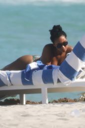 Evelyn Lozada and Shaniece Hairston on the Beach in Miami 04/28/2021