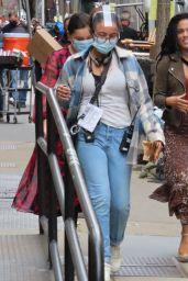 "Freema Agyeman at ""New Amsterdam"" Set in NYC 04/19/2021"