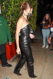 Hailey Rhode Bieber in an All-Black Leather Outfit at Giorgio Baldi in Santa Monica 04/23/2021