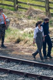"Hayley Atwell and Tom Cruise - ""Mission Impossible 7"" Set 04/20/2021"